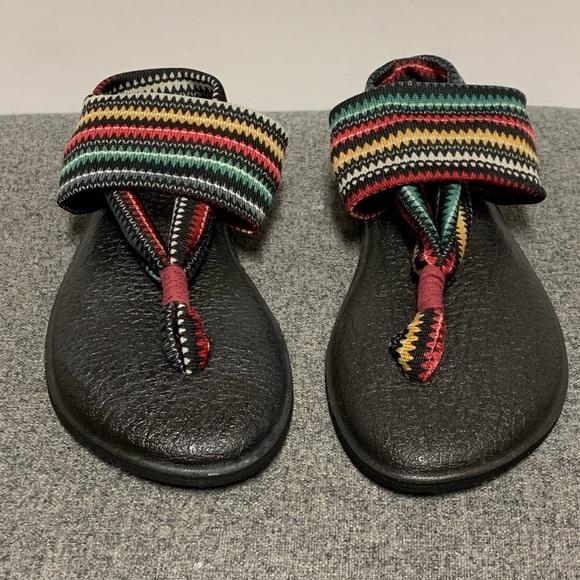 9c1fd486e5c1 Sanuk Multicolor Black Yoga Sling Thong Sandal 6. M 5cb3d6602f48315aa4d7eec8